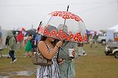 Dodging raindrops at the Carolina Cup.
