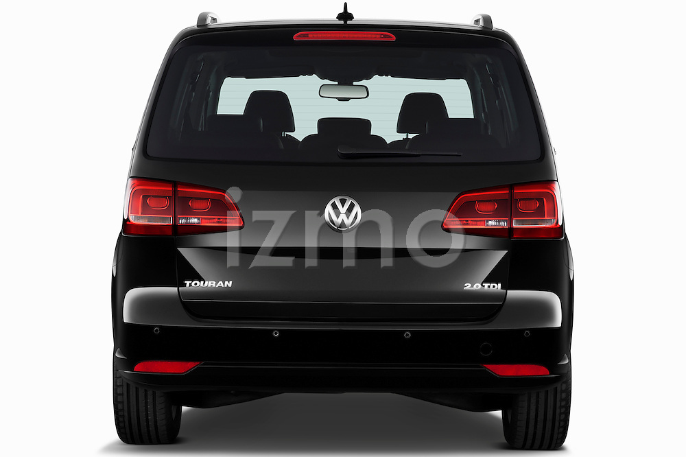 Straight rear view of a 2010 Volkswagen Touran Highline 5 Door Mini MPV