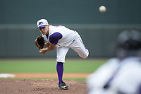 Winston-Salem Dash starting pitcher Tanner Banks (10) delivers a pitch to the plate against the Carolina Mudcats at BB&T Ballpark on May 21, 2017 in Winston-Salem, North Carolina.  The Mudcats defeated the Dash 3-0 in 10 innings.  (Brian Westerholt/Four Seam Images)