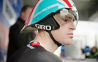 Tour of Belgium 2013.stage 3: iTT..Ben Hermans (BEL) waiting on the start podium for his slot.