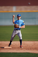 Ethan Doshi (19) of Ballard High School in Seattle, Washington during the Baseball Factory All-America Pre-Season Tournament, powered by Under Armour, on January 13, 2018 at Sloan Park Complex in Mesa, Arizona.  (Mike Janes/Four Seam Images)