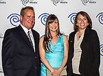 John McKay, Kellie Martin and Carole Hart at the Time Warner Media Cabletime Upfront media event held at the Private Social Restaurant  in Dallas, Texas.