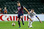 FC Kitchee Defender Helio de Souza (l) fights for the ball with FC Hanoi Midfielder Gonzalo Damian (r) during the AFC Champions League 2017 Preliminary Stage match between  Kitchee SC (HKG) vs Hanoi FC (VIE) at the Hong Kong Stadium on 25 January 2017 in Hong Kong, Hong Kong. Photo by Marcio Rodrigo Machado/Power Sport Images