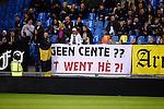 Nederland, Arnhem, 18 december 2015<br /> Eredivisie<br /> Seizoen 2015-2016<br /> Vitesse-FC Twente<br /> Supporters van Vitesse hebben een spandoek opgehangen met een verwijzing naar de financiële situatie bij FC Twente