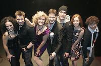 Montreal (Qc) CANADA ,march 2010,  Jíme voyais deja (Aznavours tribute) album launch :,Sarah Dagenais-Hakim, Martin Rouette, Judith Berard, Frederick De Grandpre, Jean-FranÁois Poulin, Elise Cormier et Hugo Lapierre