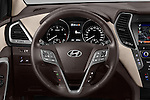 Car pictures of steering wheel view of a 2016 Hyundai Santa-Fe Executive 5 Door Suv Steering Wheel