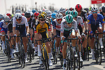The peloton during Stage 1 of the 2021 UAE Tour the ADNOC Stage running 176km from Al Dhafra Castle to Al Mirfa, Abu Dhabi, UAE. 21st February 2021.  <br /> Picture: Luca Bettini/BettiniPhoto | Cyclefile<br /> <br /> All photos usage must carry mandatory copyright credit (© Cyclefile | Luca Bettini/BettiniPhoto)