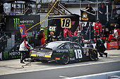#18: Riley Herbst, Joe Gibbs Racing, Toyota Supra Monster Energy makes a pit stop, Sunoco