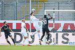 Janik Bachmann (SV Sandhausen, Nr. 5) köpft den Ball aus dem eigenen Strafraum beim Spiel in der 2. Bundesliga, SV Sandhausen - Wuerzburger Kickers.<br /> <br /> Foto © PIX-Sportfotos *** Foto ist honorarpflichtig! *** Auf Anfrage in hoeherer Qualitaet/Aufloesung. Belegexemplar erbeten. Veroeffentlichung ausschliesslich fuer journalistisch-publizistische Zwecke. For editorial use only. For editorial use only. DFL regulations prohibit any use of photographs as image sequences and/or quasi-video.