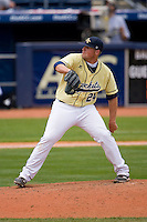Jake Davies #24 of the Georgia Tech Yellow Jackets in action versus the Florida State Seminoles at Durham Bulls Athletic Park May 23, 2009 in Durham, North Carolina.  (Photo by Brian Westerholt / Four Seam Images)