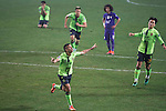 Leonardo Rodriguez Pereira (10) of Jeonbuk Hyundai Motors (KOR) celebrates after scoring his second goal against Al Ain (UAE) during their 2016 AFC Champions League Final 1st Leg match at Jeonju World Cup Stadium on 19 November 2016, in Jeonju, South Korea. Photo by Stringer / Power Sport Images