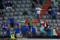 Italian supporters cheer on during the Uefa Euro 2020 round of 8 football match between Belgium and Italy at football arena in Munich (Germany), July 2nd, 2021. Photo Matteo Ciambelli / Insidefoto