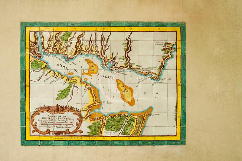 Uruguay, Colonia de Sacramento, Historical map of Rio de la Plata