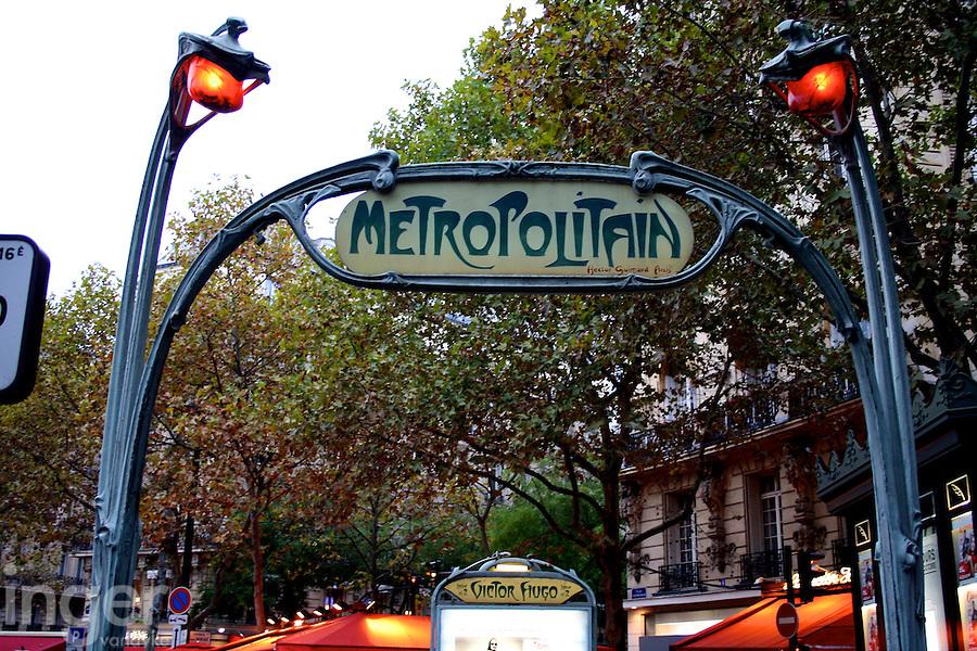 Metropolitain Station Sign in Paris, France