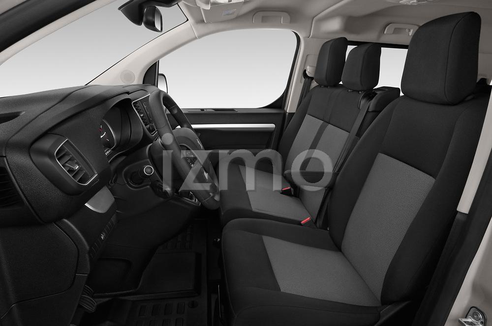 Front seat view of a 2018 Peugeot Traveller Business 4 Door Mini Van front seat car photos