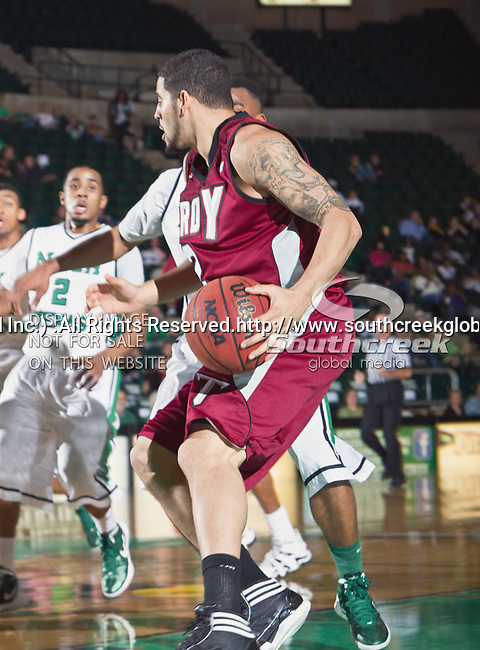 Troy Trojans guard Deonata Jethroe (2) in action during the game between the Troy Trojans and the University of North Texas Mean Green at the North Texas Coliseum,the Super Pit, in Denton, Texas. UNT defeats Troy 87 to 65.....