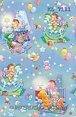 Interlitho, GIFT WRAPS, paintings, babies, toys, blue(KL7111,#GP#) everyday