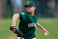 Greenville starting pitcher Dustin Richardson (34) in action versus West Virginia at West End Field in Greenville, SC, Sunday, July 1, 2007.