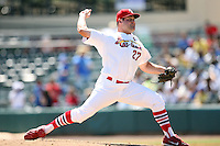 April 15, 2009:  Pitcher Blake King (27) of the Palm Beach Cardinals, Florida State League Class-A affiliate of the St. Louis Cardinals, delivers a pitch during a game at Roger Dean Stadium in Jupiter, FL.  Photo by:  Mike Janes/Four Seam Images
