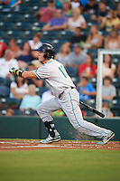 Daytona Tortugas outfielder Jeff Gelalich (13) at bat during a game against the Fort Myers Miracle on June 17, 2015 at Hammond Stadium in Fort Myers, Florida.  Fort Myers defeated Daytona 9-5.  (Mike Janes/Four Seam Images)