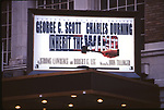 """Theatre Marquee for George C. Scott and Charles Durning in """"Inherit The Wind"""" at the Royale Theatre  on March 25, 1997 in New York City."""