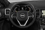 Car pictures of steering wheel view of a 2019 JEEP Grand-Cherokee Laredo-E 5 Door SUV Steering Wheel