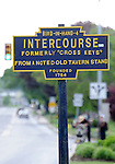 """Sign for Bird-In-Hand Intercourse Pennsylvania Dutch Amish country in Lancaster County PA, Bird In Hand, Intercourse, Pennsylvania Dutch in Amish Country Lancaster County Pennsylvania, Amish, Horse and buggy with amish family on backroads of Pennsylvainia, buggy, amish family, buggy and horse, Commonwealth of Pennsylvania, Commonwealth of Pennsylvania, natives, Northeasterners, Middle Atlantic region, Philadelphia, Keystone State, 1802, Thirteen Colonies, Declaration of Independence, State of Independence, Liberty, Conestoga wagons, Quaker Province, Founding Fathers, 1774, Constitution written, Photography history, Fine art by Ron Bennett Photography.com, Stock Photography, Fine art Photography and Stock Photography by Ronald T. Bennett Photography ©, All rights reserved copyright Ron Bennett Photography.Com, FINE ART and STOCK PHOTOGRAPHY FOR SALE, CLICK ON  """"ADD TO CART"""" FOR PRICING,"""