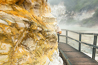 Alum Cliffs in Wai-O-Tapu Thermal Wonderland, Rotorua Region, Central Plateau, North Island, New Zealand, NZ