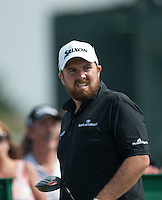 20.07.2014. Hoylake, England. The Open Golf Championship, Final Round.  Shane LOWRY [ROI] watches his tee shot