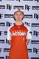 Jacob Terwilliger (1) of Lovejoy High School in Fairview, Texas during the Baseball Factory All-America Pre-Season Tournament, powered by Under Armour, on January 12, 2018 at Sloan Park Complex in Mesa, Arizona.  (Mike Janes/Four Seam Images)