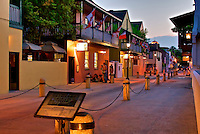 Evening on Hypolita Street in downtown St. Augustine, Florida
