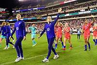 PHILADELPHIA, PA - AUGUST 29: Kelley O'Hara #5 of the United States during a game between Portugal and USWNT at Lincoln Financial Field on August 29, 2019 in Philadelphia, PA.