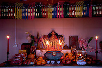 Offerings table at Mah Choi Nui Nui Temple, Christmas Island, Indian Ocean
