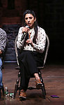 """Lauren Boyd during the Q & A before The Rockefeller Foundation and The Gilder Lehrman Institute of American History sponsored High School student #EduHam matinee performance of """"Hamilton"""" at the Richard Rodgers Theatre on 5/22/2019 in New York City."""