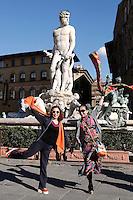 Piazza della signoria - Fontana di Nettuno o Biancone<br /> Piazza della Signoria - Fountain of Neptune<br /> Firenze 07-10-2016. Luoghi e Monumenti della citta'. <br /> Florence 7th October 2016. Places and monuments of the city.<br /> Foto Samantha Zucchi Insidefoto