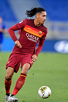 Chris Smalling of AS Roma in action during the Serie A football match between AS Roma and ACF Fiorentina at stadio Olimpico in Roma (Italy), July 26th, 2020. Play resumes behind closed doors following the outbreak of the coronavirus disease. <br /> Photo Antonietta Baldassarre / Insidefoto