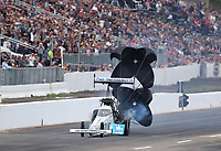 Feb 23, 2020; Chandler, Arizona, USA; NHRA top fuel driver Justin Ashley during the Arizona Nationals at Wild Horse Pass Motorsports Park. Mandatory Credit: Mark J. Rebilas-USA TODAY Sports