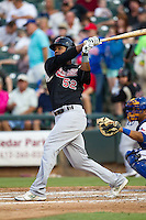 Sacramento River Cats outfielder Michael Taylor #22 swings during the Pacific Coast League baseball game against the Round Rock Express on May 24, 2012 at the Dell Diamond in Round Rock, Texas. The Express defeated the River Cats 5-3. (Andrew Woolley/Four Seam Images).