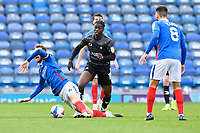 Taylor Richards of Doncaster Rovers fouls Tom Naylor of Portsmouth during Portsmouth vs Doncaster Rovers, Sky Bet EFL League 1 Football at Fratton Park on 17th October 2020