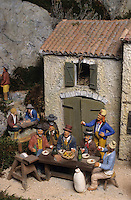 """Europe/France/Provence-Alpes-Côte d'Azur/13/Bouches-du-Rhône/Aubagne : La crèche d'Aubagne - Détail de """"La pastorale racontée par les santons"""""""