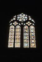 Italy: Assisi--Basilica San Francisco, window. Photo '85.