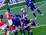 Fussball-Bundesliga - Saison 2020/2021<br /> Opel-Arena Mainz - 03.05.2021<br /> 1. FSV Mainz 05 (mz) - Hertha BSC Berlin (b) 1:1<br /> Jean-Philippe MATETA (1. FSV Mainz 05), 2.v.li. köpft aufs Tor<br /> <br /> Foto © PIX-Sportfotos *** Foto ist honorarpflichtig! *** Auf Anfrage in hoeherer Qualitaet/Aufloesung. Belegexemplar erbeten. Veroeffentlichung ausschliesslich fuer journalistisch-publizistische Zwecke. For editorial use only. DFL regulations prohibit any use of photographs as image sequences and/or quasi-video.