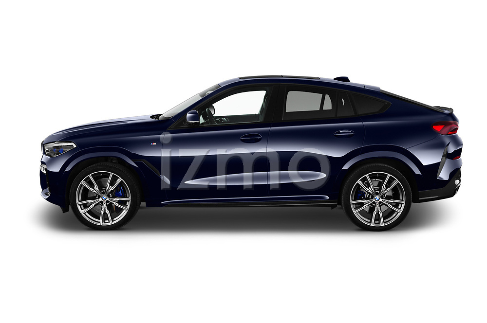 Car driver side profile view of a 2020 BMW X6 Base 5 Door SUV