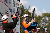 #12: Will Power, Team Penske Chevrolet, #9: Scott Dixon, Chip Ganassi Racing Honda, #55: Alex Palou,  Dale Coyne Racing with Team Goh Honda, podium