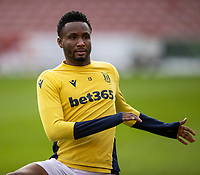 9th January 2021; Bet365 Stadium, Stoke, Staffordshire, England; English FA Cup Football, Carabao Cup, Stoke City versus Leicester City; John Obi Mikel of Stoke City during the warm up