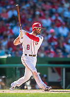 28 August 2016: Washington Nationals infielder Danny Espinosa in action against the Colorado Rockies at Nationals Park in Washington, DC. The Rockies defeated the Nationals 5-3 to take the rubber match of their 3-game series. Mandatory Credit: Ed Wolfstein Photo *** RAW (NEF) Image File Available ***