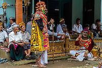 Bali, Indonesia.  Village Men Re-enact Stories from Balinese Hindu Mythology.