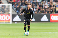 LOS ANGELES, CA - MARCH 01: Tristan Blackmon #27 of LAFC advances the ball in a match against Inter Miami CF during a game between Inter Miami CF and Los Angeles FC at Banc of California Stadium on March 01, 2020 in Los Angeles, California.