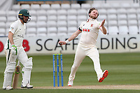 Sam Cook in bowling action for Essex during Essex CCC vs Worcestershire CCC, LV Insurance County Championship Group 1 Cricket at The Cloudfm County Ground on 9th April 2021