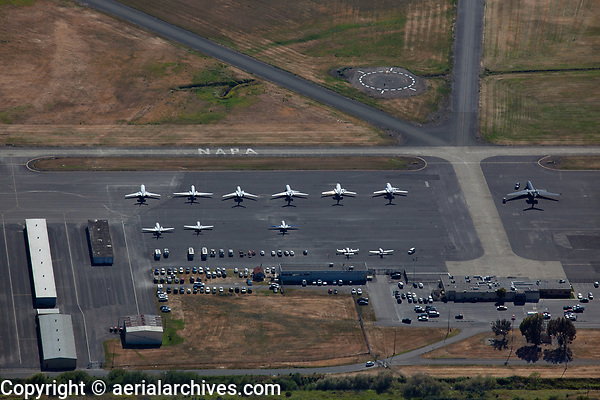 aerial photograph of the Napa County Airport (APC), Napa, California